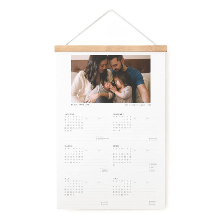 Tiny Blessings Hanging Bar Calendar