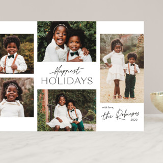 Signature Collage Grand Holiday Cards