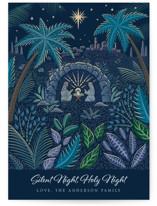 Illuminated Nativity Grand Holiday Cards