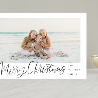 Minimal Lettered Christmas Grand Holiday Cards