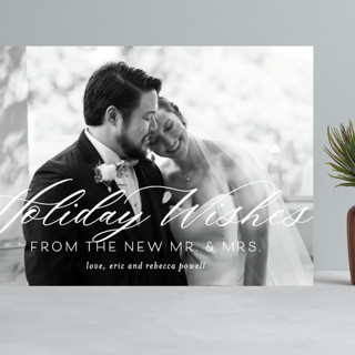 New Mr. & Mrs. Grand Holiday Cards