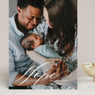 Hope for the new year Grand Holiday Cards
