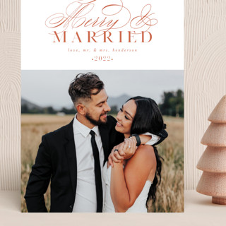 So Merry Married Grand Holiday Cards
