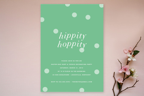 Hippity Hoppity Party Invitations
