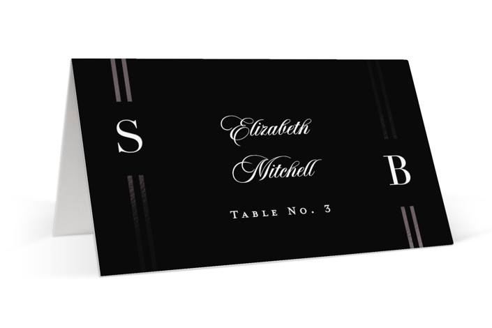 Side by Side Foil-Pressed Place Cards