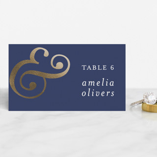 Classic Ampersand Foil-Pressed Place Cards