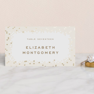 Mosaic Waves Foil-Pressed Place Cards