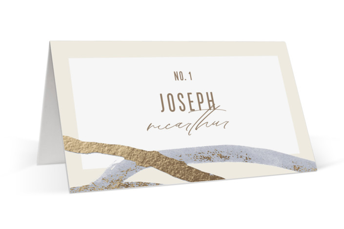 Expressive Foil-Pressed Place Cards