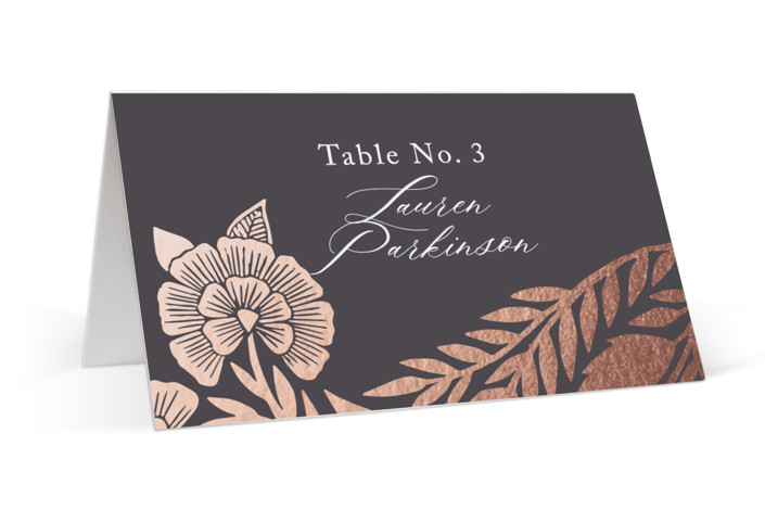 Block Printed Border Foil-Pressed Place Cards