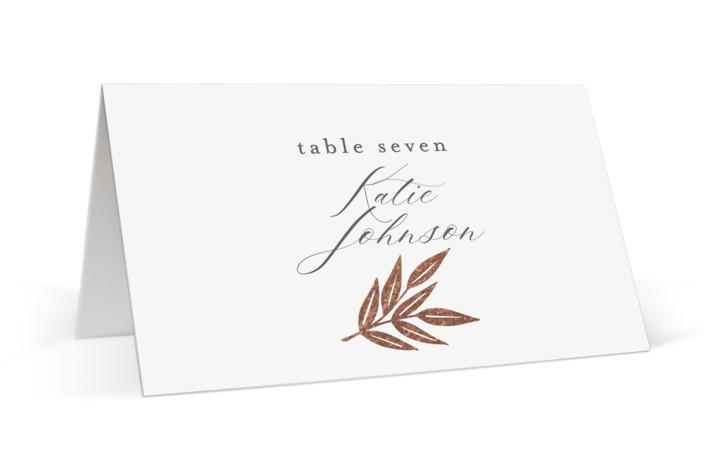 Monogram Wreath Foil-Pressed Place Cards