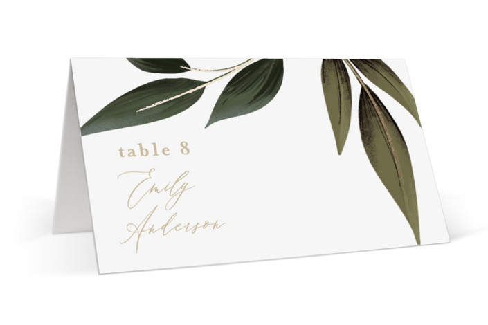 Cascading Vine Foil-Pressed Place Cards
