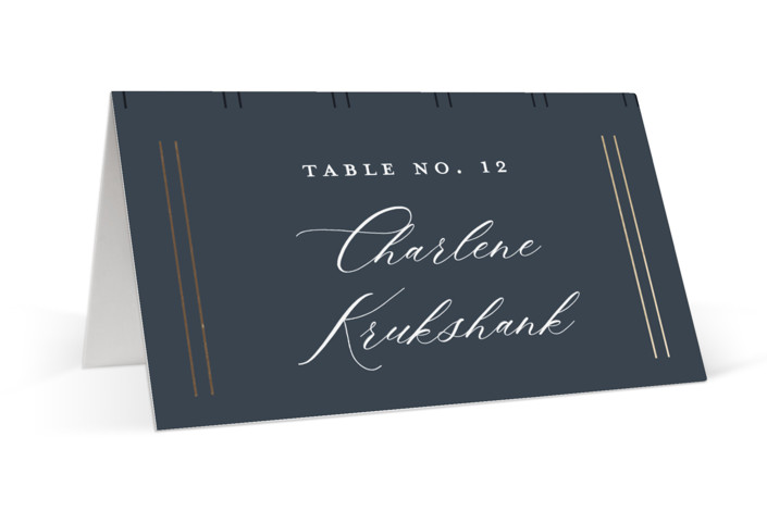 The Biltmore Foil-Pressed Place Cards