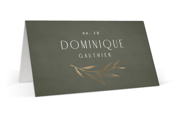 Botanical Arches Foil-Pressed Place Cards