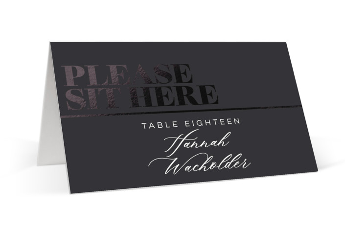 Smash the Glass Foil-Pressed Place Cards