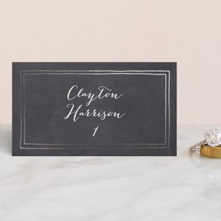 Alabaster Florals Foil-Pressed Place Cards