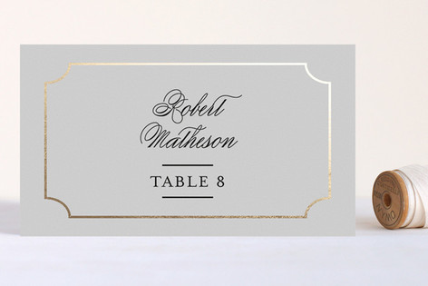 Classy Type Foil-Pressed Place Cards