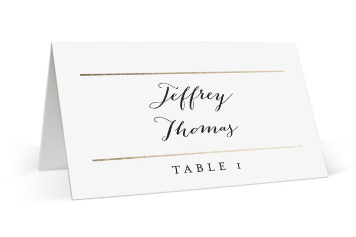 Gold Bars Foil-Pressed Place Cards