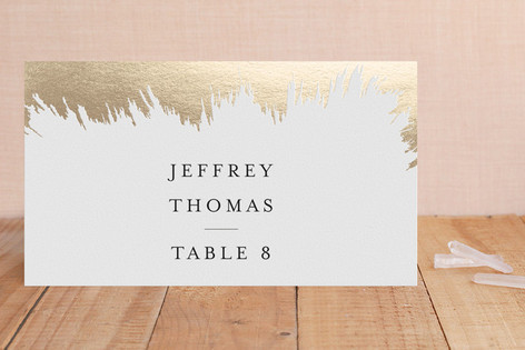 Gold Brush Foil-Pressed Place Cards