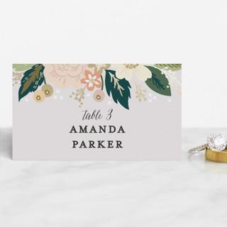 Classic Floral Foil-Pressed Place Cards