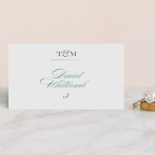 Charming Go Lightly Foil-Pressed Place Cards