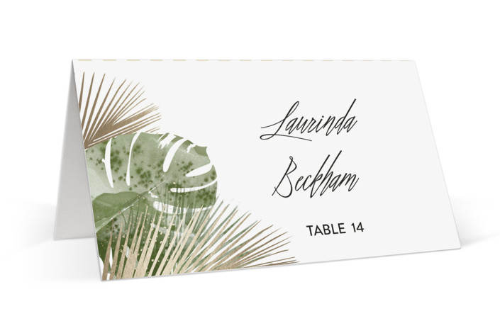 Palm Springs Foil-Pressed Place Cards
