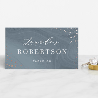 Moody Marbling Foil-Pressed Place Cards