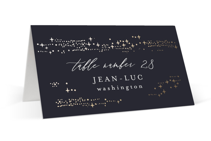 Starry Sky Foil-Pressed Place Cards