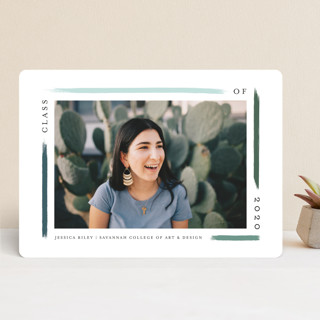 holiday brushed Graduation Announcements