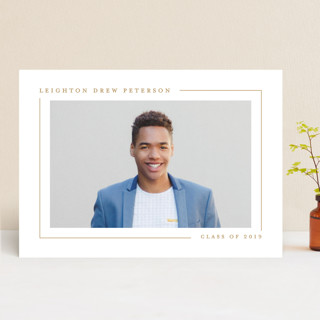 Simply Serene Graduation Announcements