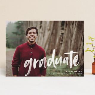 Modern Brush Graduate Graduation Announcements