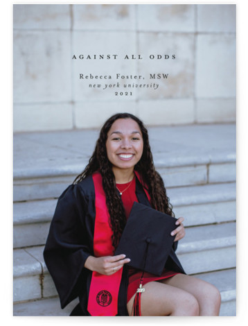 Against All Odds Graduation Announcements