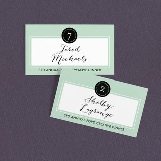 Modern Chic Wedding Place Cards