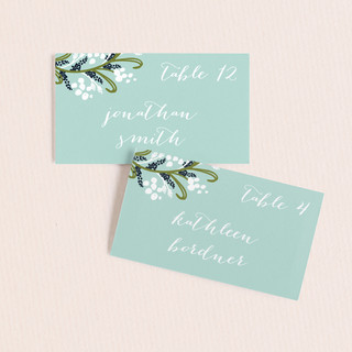 Midnight Floral Wedding Place Cards