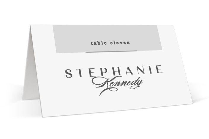 Photographed Place Cards