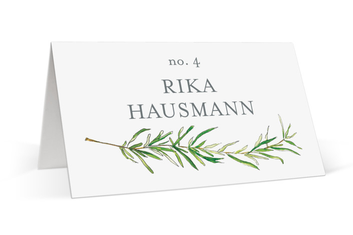 Simple Sprigs Place Cards