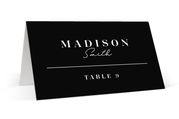 Aligned Place Cards