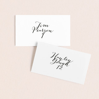 Modern Mint Wedding Place Cards