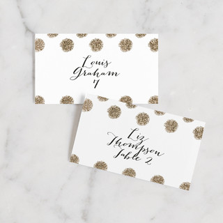 Sparkle Everywhere Wedding Place Cards