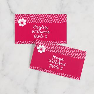 XOXO Wedding Place Cards