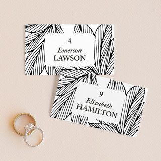vivid leaves Wedding Place Cards