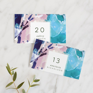Blissful Blooms Wedding Place Cards