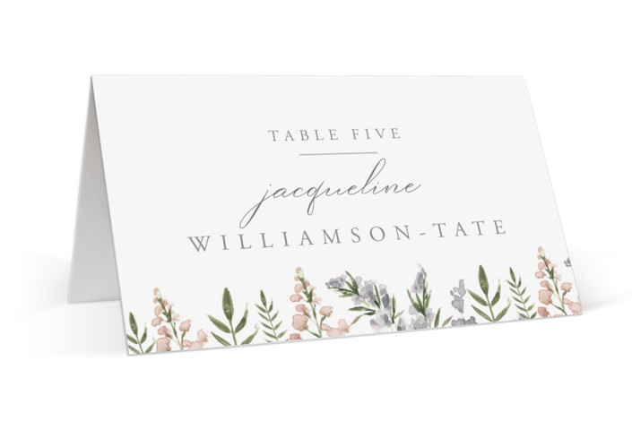 Spring Wildflowers Place Cards