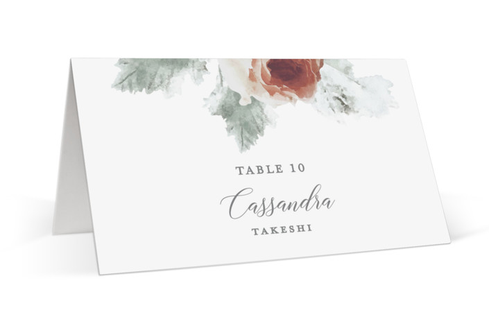 rose drop Place Cards