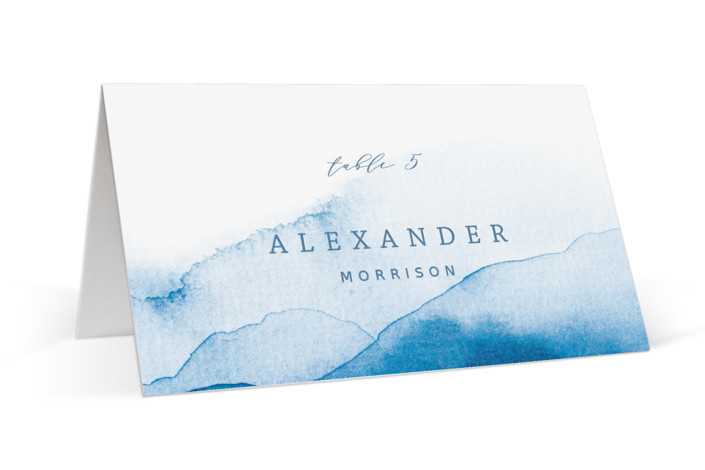 Watercolor waves Place Cards