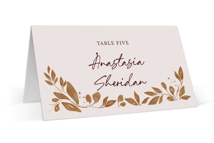 Painterly Florals Place Cards