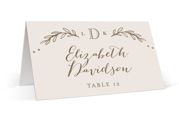 Classic Crest Place Cards