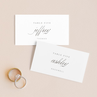 Fox Trot Wedding Place Cards