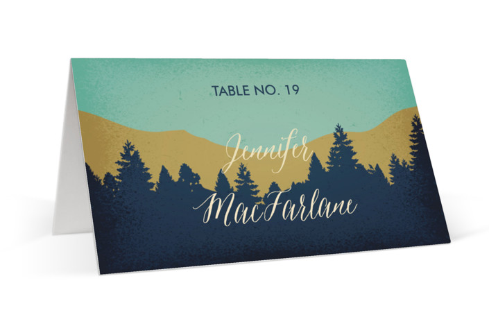 Mountain View Place Cards
