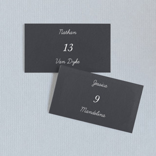 Watercolor Leaf Wedding Place Cards