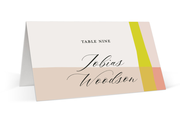 Color Block Place Cards